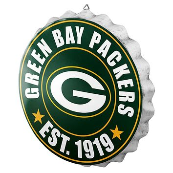 Green Bay Packers Man Cave Bottlecap Wall Sign