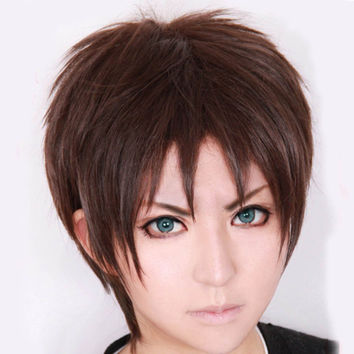 Attack on Titan Eren Jaeger Short Dark Brown Cosplay Wig COS-320G
