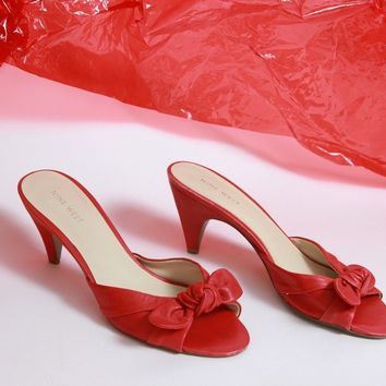 Red Bow Heels Size 8.5