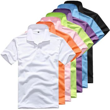 Fashion Men's Clothing Solid Classic Polo Shirts