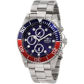 Invicta Men's 1771 Pro Diver Quartz Multifunction Blue Dial Watch