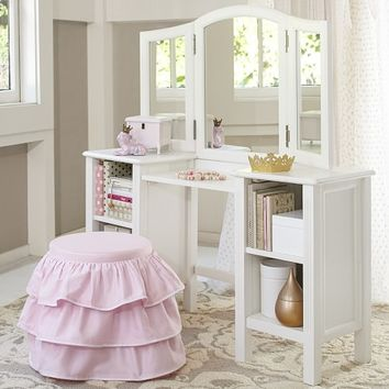 Madeline Play Vanity & Dress Up Tower | Pottery Barn Kids