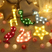 Hot Unicorn Party Lamp LED Table Night Light Marquee Fairy Outdoor Garland Christmas Home Decoration 3D Desk Lamp Kids Gift INS