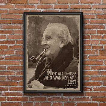 J.r.r. Tolkien, Tolkien Quote, Portrait, Quote Art, Custom QUOTE, Choose COLOR, Wall Art Print