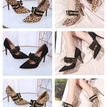 2020 New Arrivals LV Louis Vuitton Women Trending Leather Black beige High Heel Shoes Best Quality