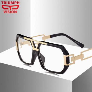 TRIUMPH VISION Eyewear Frames Men Optical Myopia Clear Lens Glasses Frame Male Hipster Spectacle Frame Big Eyeglasses Men Brand
