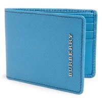 Men's Burberry Small Billfold Wallet - Blue