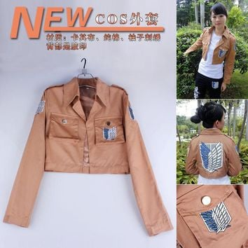 Cool Attack on Titan  Jacket no  jacket Legion Cosplay Costume Jacket Coat Any Size High Quality Eren Levi AT_90_11