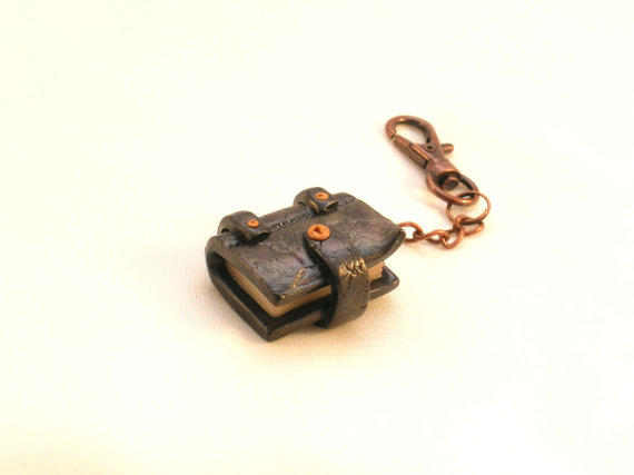 Book Keyring Polymer Clay Book Keychain From Kickrox On Etsy