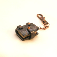 Book Keyring - Polymer Clay Book Keychain or Bag Charm. (Key Ring / Key Chain) Novelty Gift.
