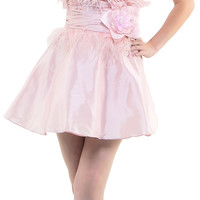 2013 Prom Dresses Pink Fully Feathered Sequin & Tulle Cocktail Dress