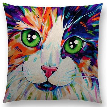 Pumelo Tree Cat Pillow Case