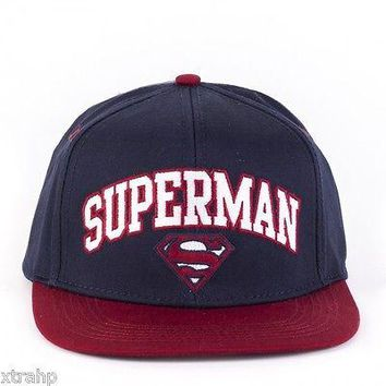 Superman Snapback Hat Baseball Cap Licensed Adult Dc Comics