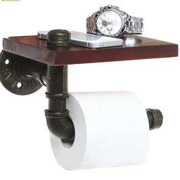 Bathroom Iron Shelf Decor Toilet Paper Holder