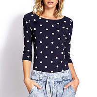 Diner Darling Polka Dot Top