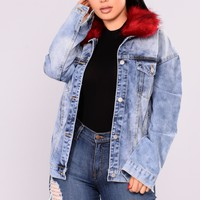 Furever And Always II Denim Jacket - Medium Wash