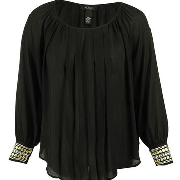 Alfani Women's Long Sleeve Embellished Top