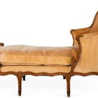 One Kings Lane - Kelly Wearstler: Modern Glamour - Antique Velvet Chaise Longue