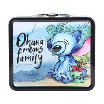 Disney Lilo & Stitch Beach Scene Tin Lunch Box