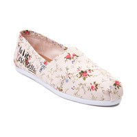 Womens TOMS Classic Floral Slip On Casual Shoe