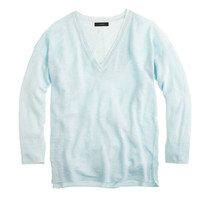 J.Crew Womens Linen V-Neck Sweater In Garment Dye