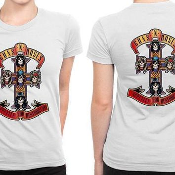 Guns N Roses B 2 Sided Womens T Shirt