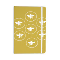 "Jennifer Rizzo ""Busy As A Bee Maise Gold"" White Nature Everything Notebook"