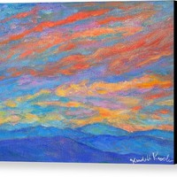 Color Ripples Over The Blue Ridge Canvas Print
