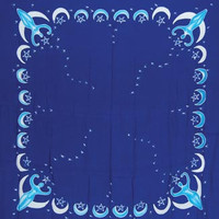 "Goddess altar cloth or scarve blue 36"" x 36"""