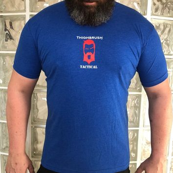 THIGHBRUSH TACTICAL - Thank You for Your Cervix - Men's T-Shirt - Patriotic Red, White and Blue