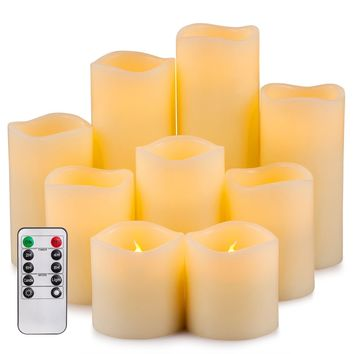 Enpornk Flameless Candles LED Pillar Battery Operated Candles with Remote Timer