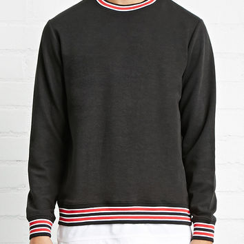 Stripe-Trimmed Sweater