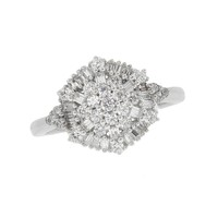Diamond Fashion Cluster Ring 3/4ctw