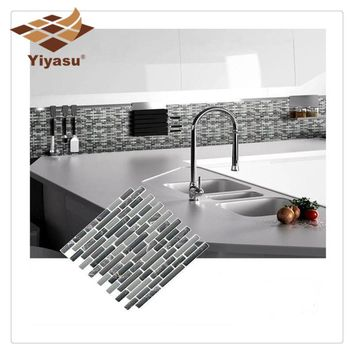 Self Adhesive Mosaic Tile Wall decal Sticker DIY Kitchen Bathroom Home Decor Vinyl K