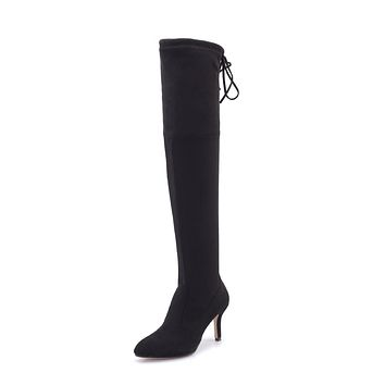 Kitten Heel Over the Knee Boots Winter Shoes for Woman 8489