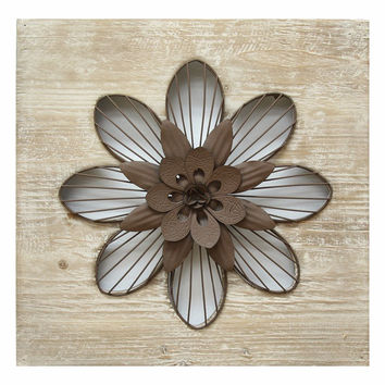 SHD-SHD0189 Rustic Flower Wall Decor