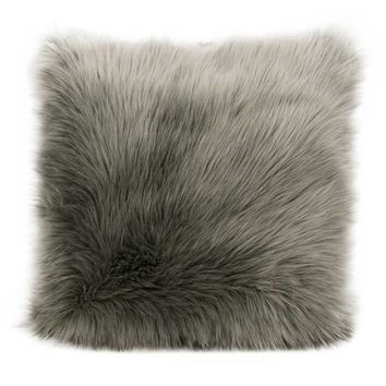 Mina Victory Remen Faux Fur Throw Pillow