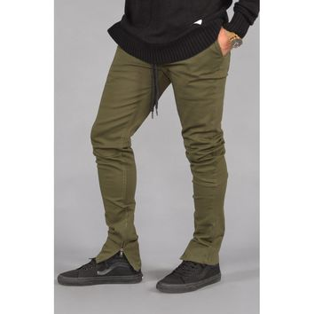 Rich V. 4 Joggers w/ Ankle Zip (Olive)