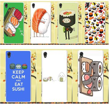 Salvestro For Sony Xperia Z Z1 Z2 Z3 Z4 Z5 compact Mini M2 M4 M5 T3 E3 XA TPU Phone Cases Cover Many Sushi Style Kawaii