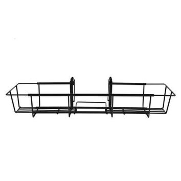 Vigoro 36 in. x 5 in. Adjustable Black Metal Flower Box Holder-FW2436VG - The Home Depot