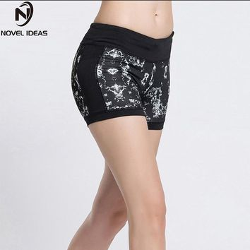New Women's Play Up Shorts Elasticity Comfortable Bottoms Reversible Printed Spandex Workout Running Shorts Fitness Tights