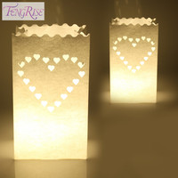 Heart Tea Light Holder Luminaria Paper Lantern Candle Bag