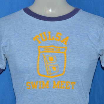 70s Tulsa Swim Meet Ringer t-shirt Youth Large