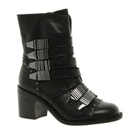 Shellys Plaskove Strap Heeled Ankle Boots
