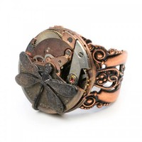 Petite Marvel - Steampunk Ring | Antige - Jewelry on ArtFire