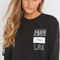 Light Before Dark Skater Logo Black T-shirt - Urban Outfitters