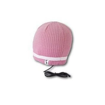 Tooks VELOCITY Headphone Audio Beanie Hat With Built-in Removable Headphones - COLOR: ORCHID PINK, Unique Gift Idea