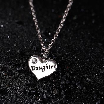 Gift Stylish Jewelry Shiny New Arrival Diamonds Home Alphabet Necklace [302111391785]