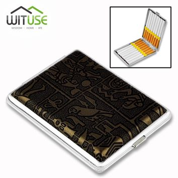 Best selling Leather & Metal Cigarette Box hold 12 14 16 18 20 pcs Pouch Case Holder Tobacco Storage Container