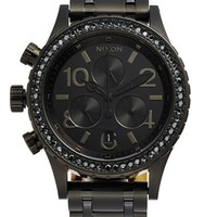 Nixon 'The 38-20' Crystal Bezel Chronograph Bracelet Watch, 38mm